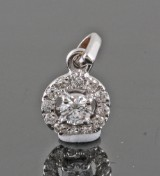 Diamond pendant in 18kt approx. 0.20ct