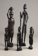 Afrikanske figurer af udskåret træ (5)