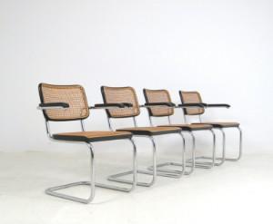 slutpris f r marcel breuer freischwinger st hle modell. Black Bedroom Furniture Sets. Home Design Ideas