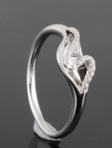 14kt diamond ring approx. 0.07ct