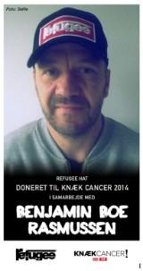 Benjamin Boe Rasmussens REFUGEE  hat - Til fordel for Knæk Cancer 2014