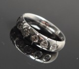 Georg Jensen. Centenary ring, seven diamonds, approx. 0.70 ct.