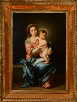 Unknown artist after Murillo, Madonna with Child, 18/19th century