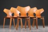 Arne Jacobsen. Six Grand Prix chairs, teak (6)