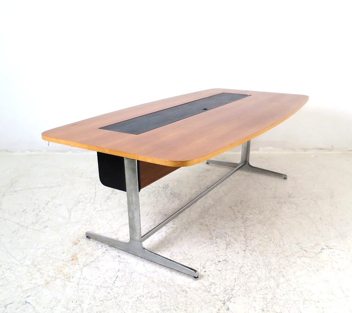 George Nelson, Schreibtisch / President Desk / Konferenztisch Aus Der  Action Office 1 Serie Von Vitra / Herman Miller