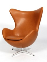 Arne Jacobsen: Lounge chair with tilt function, The Egg, 'Brown Label' from 2015