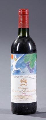 1 flaske Mouton Rothschild 1982