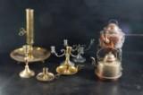 Samling ljusstakar, kaffepettrar, 18 / 1900-tal åtta delar. (8)