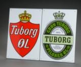 To Tuborg reklameskilte emalje (2)