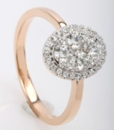 Brillantring fra FHP DeLuxe, 14 kt rosa guld, ca. 0.55 ct.