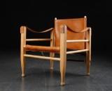 Safaristol, bøg og læder, dansk møbelproducent