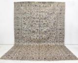 Carpet, a large pale Keshan, signed, 503 x 330