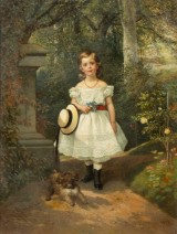 Adolph Kindermann, Portrait of a Girl with Dog