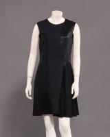 Stella McCartney mørkeblå / sort kjole , str. 38