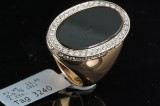 18K diamond and Onyx ring approx. 0.76ct