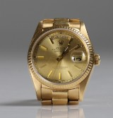 Rolex Day-Date, armbandsur, herr, guld 18K, 1979