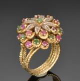 Vintage ring af  18 kt guld