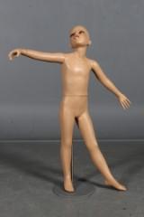 Børne mannequin på fod. H.112 cm.