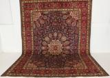 Persisk handknuten matta, Täbriz, mått 377x276