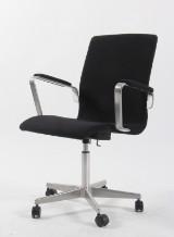 Arne Jacobsen. Oxford office chair, model 3271, Tonus wool from Kvadrat