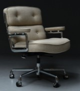 Charles & Ray Eames, Vitra. Office chair, 'Time Life Lobby Chair', model ES104, Hallingdal fabric