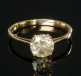 Solitaire brilliant-cut diamond ring, gold, approx. 1.17 ct.