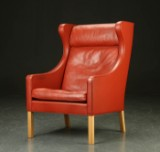 Børge Mogensen. Wing chair, model 2204.