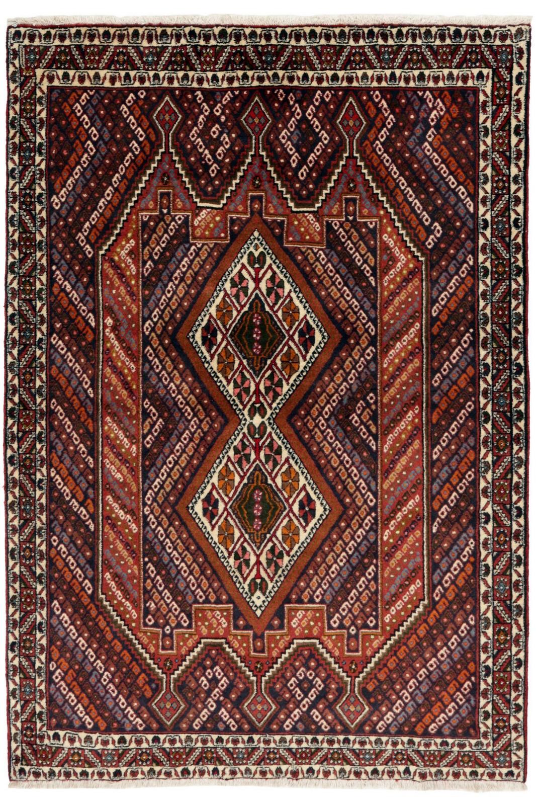 Persisk Afshar tæppe, 176 x 123 cm - Persisk Afshar tæppe, syd Persien. Uld på bomuld. 176 x 123 cm