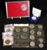 Sølvmønter: Kronprins  Frederik 1986 og jubilæumsmønter med mere (28)
