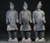 Kinesisk Terracotta figurer. (3)