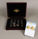 Verdens mindste guldmønter + sølvmønter i æske