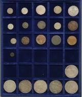 Danmark. Samling mønter i møntbakke  (22)