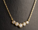 Necklace with brilliant cut diamonds, 750 gold