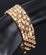 Fausto Milan. Italiensk armbånd af 18 kt. guld. Vægt ca. 49 g