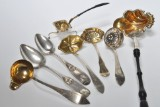 A large private collection of cream spoons,  and dinner spoons, etc, silver, mainly Southern Jutland, 18-19th century (78)