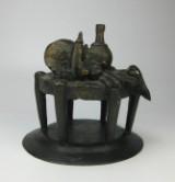 Richard Heß, bronzeskulptur, 'Stillleben mit Hummer'