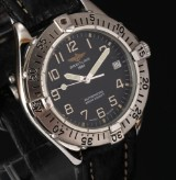 Breitling 'Colt Cockpit'. Men's watch, steel, with black dial withdate, 1990s