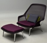 Ronan & Erwan Bouroullec. Lounge chair, model Slow Chair, with ottoman (2)