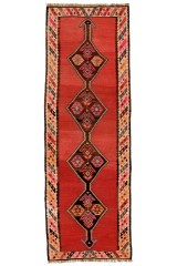 Persisk Shahsavan Kelim, 290 x 97 cm.