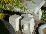 Bord samt pallar, 4 st, crèmevit sandsten, Kina (5)