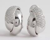 Earrings in 18k set with brilliant cut diamonds 1.88 ct