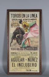 José Cros Estrems, litografisk affisch, Tjurfäktning, 1960-tal