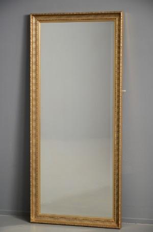 spejl med guldramme Rektangulært spejl, facetslebet, guldramme, 1900/2000 tallet  spejl med guldramme