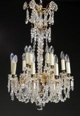 Fransk Christian VIII cut-glass chandelier, 19th century-second half