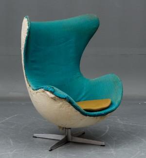 arne jacobsen sessel modell 39 das ei 39 1960er jahre. Black Bedroom Furniture Sets. Home Design Ideas