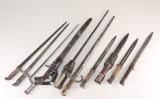 Samling bajonetter (10)