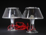 Et par Holmegaard bordlamper af glas, model One (2)