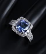 Sophia by Design. Tanzanite and diamond ring, 14 kt white gold