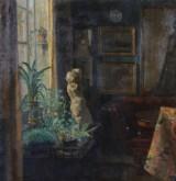 Viggo Madsen. Olie på lærred, interiør