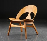 Børge Mogensen. Shell chair, moulded wood, for master cabinetmakers Erhard Rasmussen